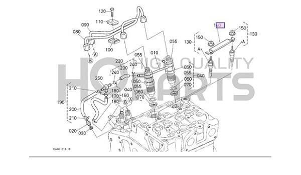 [ZSVE_7041]  Amazon.com: Kubota [zm] Cord,glow Plug Part # 1G460-65560: Automotive | Kubota Glow Plug Wiring Diagram |  | Amazon.com