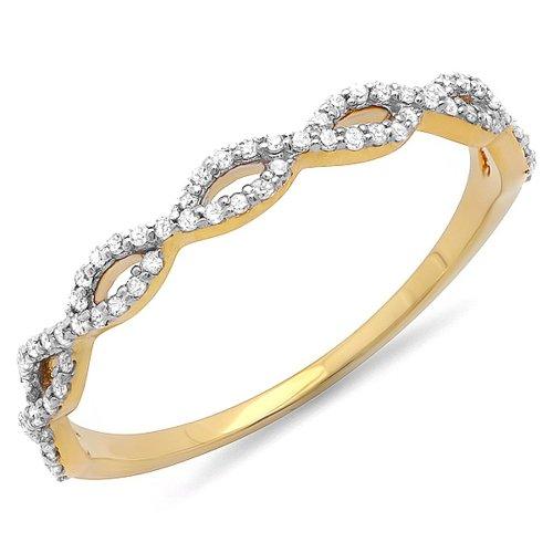 Yellow Gold Diamond Swirl - 1