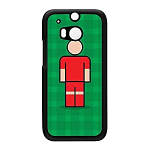 Alfreton Black Hard Plastic Case for HTC? One M8 by Blunt Football + FREE Crystal Clear Screen Protector