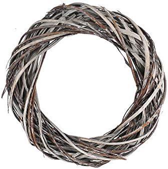 TGG Rieten krans grijs gewassen 25 cm splijtwilg shabby houten krans