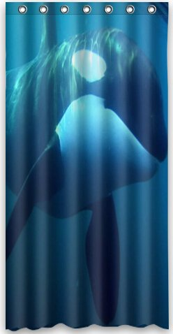 Amazon Popular Design Killer Whale Orca Shower Curtain 36w X