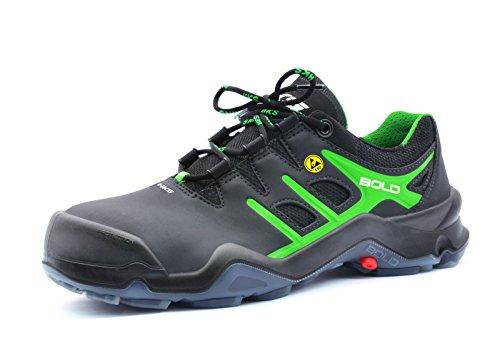 HKS Targa 5 VTP S3 SRC ESD Sicherheitsschuhe Schwarz/Grün 42 schwarz/grün schwarz/grün