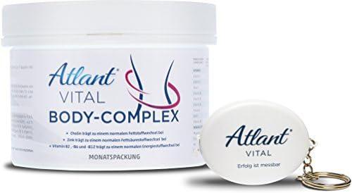 Atlant Vital Body Complex Tabletten, Abnehmen mit L-Carnitin, Colin, Koffein und Kurkuma sowie Mineralien und Vitaminen, Beste Qualität in Deutschland hergestelltDeutschland