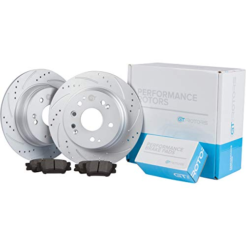 [Rear Set] GT//Rotors Performance Brake Disc Rotors & Ceramic Brake Pads for BMW E90 E92 325i 2006 328i 2007-2011 Coupe up to 2013