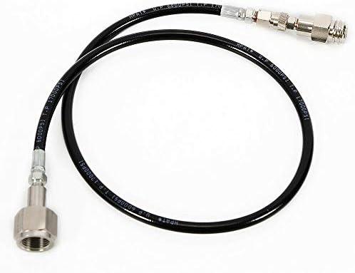 Tuyau CO2 SodaStream Club 91,4 cm à l'extérieur W21,8 Kit adaptateur de réservoir direct, noir