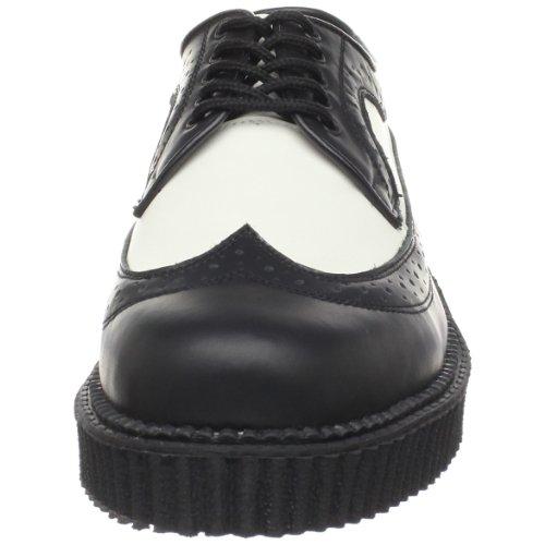 Demonia Men's CREEPER-608 Brogue, Black (Black (Blk-Wht Leather)), 4 UK