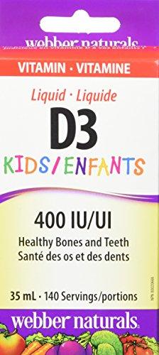 Webber Naturals Vitamin D3 KIDS 400iu, 35mL