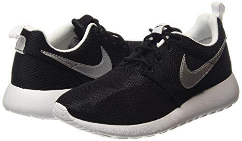 Unisex gs Silver Roshe Da black Nike – One Nero Corsa white white Scarpe Bambini metallic EYAxqxT