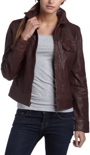 Lucky Brand Women's Leather Bomber