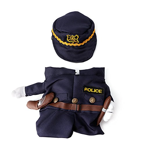 Delight eShop Funny Pet Costume Dog Cat Costume Clothes Dress Apparel Doctor Policeman Cowboy (Dog Mario Costume)