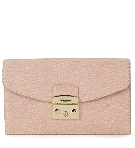Pochette Furla Metropolis Envelope in pelle rosa