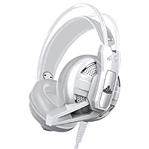 Ant Esports H520W Gaming Headset for PC / PS4 / Xbox One, Nintendo Switch, Computer and Mobile, World of Warships Edition– White