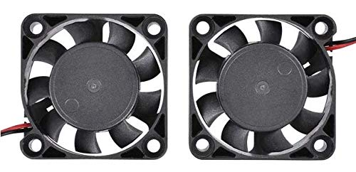 2 ventiladores para impresora 3D (40 x 40 x 10, 12 V, 0,1 A, muy ...
