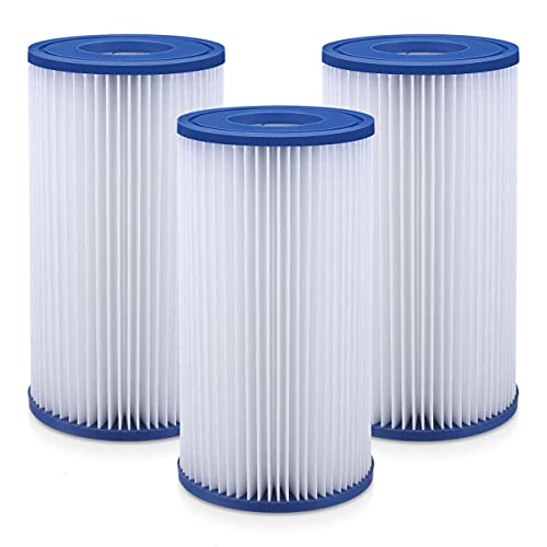 EBL Pool Filters Replacement 3 Pack of Filter Cartridg Type A or C Pool Compatible with 29000E 59900E - Easy Set Summer Pool Filter
