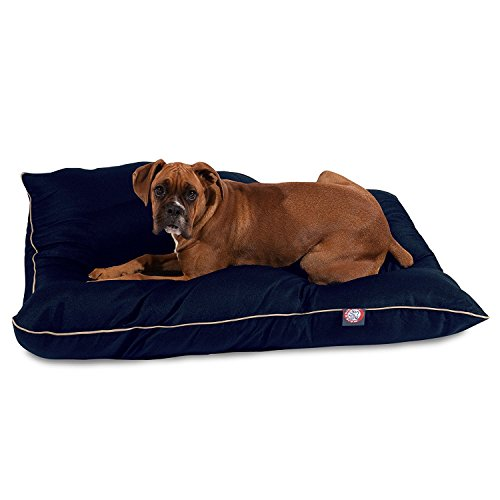 35x46 Blue Super Value Pet Dog Bed By Majestic Pet Products ()
