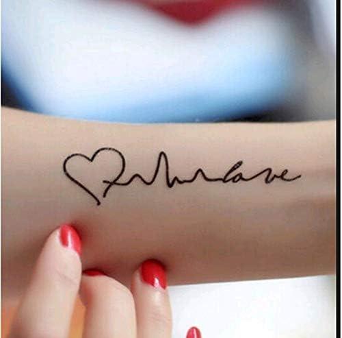 Nueva llegada arte electrocardiograma de tatuajes temporales en ...