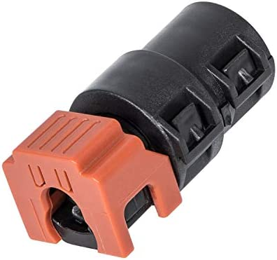 6.7L Powerstroke Fuel Filter Return Line Connector Fitting For Ford 2017-2020 (3846) HC3Z-9A564-A (Black & Orange)