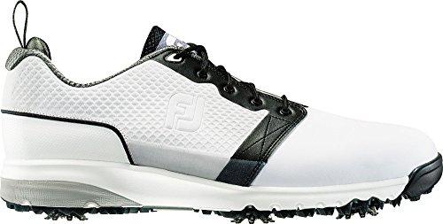 FootJoy Men's Contour FIT Golf Shoes (White, 8.5 4E (Contour Golf Shoes)