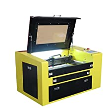 MegaLane Hermatic 50W CO2 Laser Engraving Cutting Machine Laser Cutter Engraver with 300*500MM Electric Up&Down Worktable DSP Precision Control Red Dot Pointer Rotary Device Included