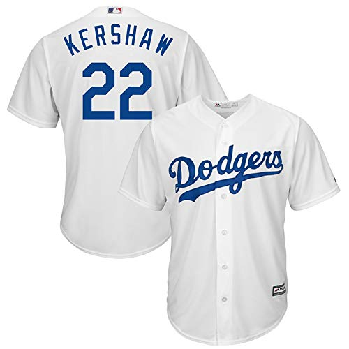 (Outerstuff Youth Kids 22 Clayton Kershaw Los Angeles Dodgers Baseball Jersey (YTH 10-12 M, White))