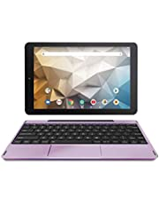 RCA Tablet Quad-Core 2GB RAM 32GB Storage IPS HD Touchscreen WiFi Bluetooth with Detachable Keyboard Android 9 Pie (Lavender)