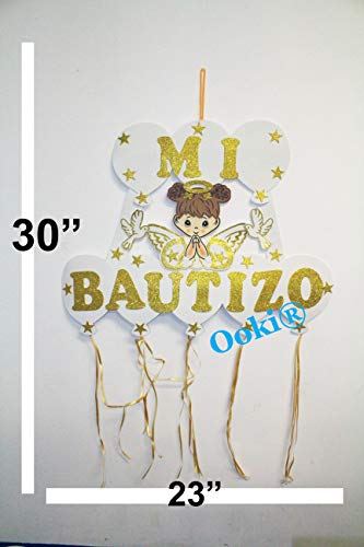 Gold Halo Mi Bautizo Angel Wings Figure Boy Girl 30