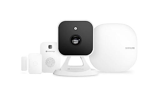 Vodafone V-Home Safety Starter Kit de Samsung - Cámara de video, sensor, sirena y hub para hogar