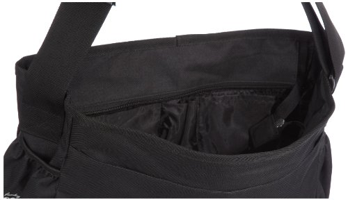 Poodlebags young Art - slogan - the message Hero - 3YA0312MHERB, Unisex - Kinder Messengerbags, Schwarz (black), 35 x 12 x 30 cm (B x H x T) Schwarz (Black)
