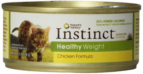 Nature's Variety Instinct Grain-Free Healthy Weight Chicken Formula Canned Cat Food, 5.5 oz (case of 12)
