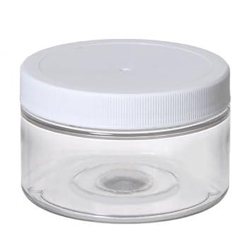 Wonderful Premium Life Plastic Jars   4 Oz.Pet Round Plastic Jar   Pack Of 12