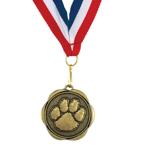 Set of 100 Award Medals with Neck Ribbons - Paw by Jones School Supply Co., Inc.
