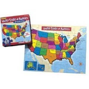 Amazon.com: United States of America Map Jigsaw Puzzle 60 Piece ...