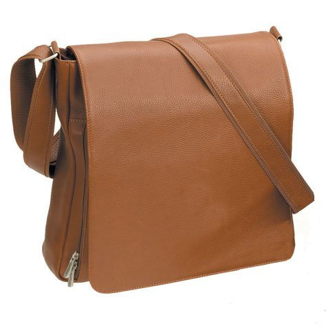 The Hampton Vertical Messenger Leather Briefcase Bellino
