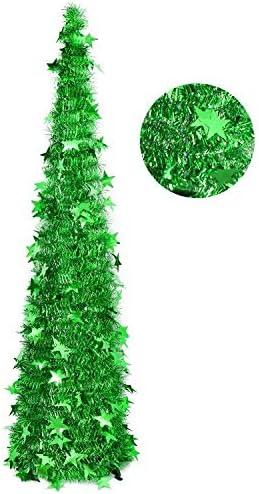 AGAKY Albero di Natale Slim Pieghevole, Albero di Natale 120 cm Artificiale, Facile da Montare, Natalizie Decorazioni da Interno per Casa, Festa, Verde
