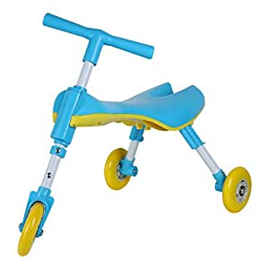 Medog Walker Ride On Fly Bike SCOOTER BUG Walking Buddy - Non Scratch Wheels - No Setup Required - No Assembly Required - IT under CPC OF CPSIA (BLUE)