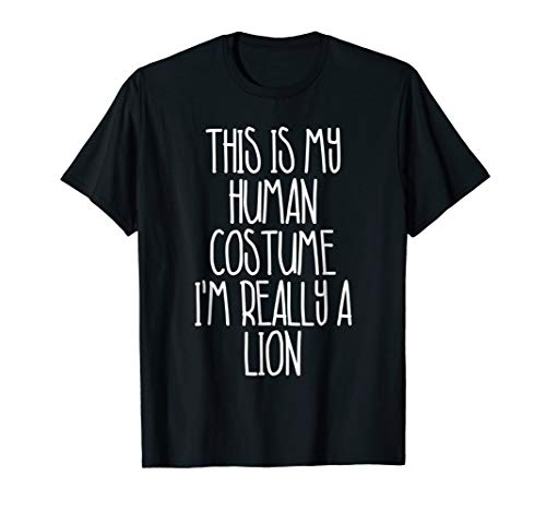 Cute Simple Lion Halloween Costume Shirt Lion Tee ()