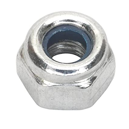 Sealey NLN8 Nylon Lock Nut M8 Zinc DIN 982 Pack of 100