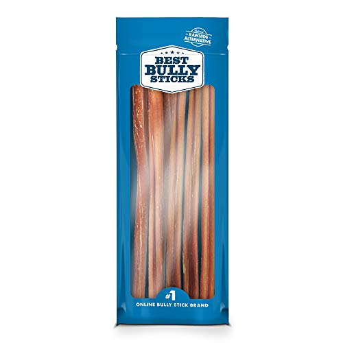 Best Bully Sticks 12-Inch Standard Bully Sticks (12 Pack) - All-Natural, Free-Range, Grass-Fed Beef Dog Treats - Promotes Dental Health
