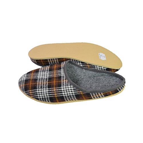 Unbekannt - Zapatillas de estar por casa de Fieltro para mujer Marrón - marrón