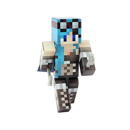 [Steampunk Girl Action Figure Toy, 4 Inch Custom Series Figurines by EnderToys] (Ghast Minecraft Costume)