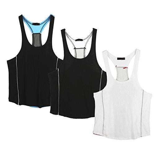 White Per Gli Da Canotta Athletic Amanti Uomo Del Sportiva Black Fitness Blue wXIvIS