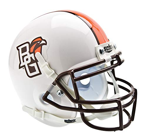 Schutt NCAA Bowling Green Falcons Mini Authentic XP Football Helmet, White Alt. -