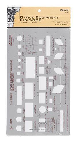 Pickett Office Equipment Indicator Template, 1/4 Inch Scale (113PI)