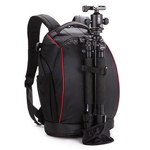 Profi Nylon Rucksack Schutztasche für digital Spiegelreflexkamera wie Nikon und Canon mit Laptop Fach AL2010 (43x28x18cm)