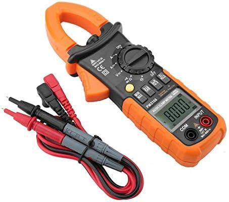Tyannan デジタルクランプメーター、PM2108ポータブルデジタルAC / DCクランプメーターマルチメータ電流電圧抵抗TESTE