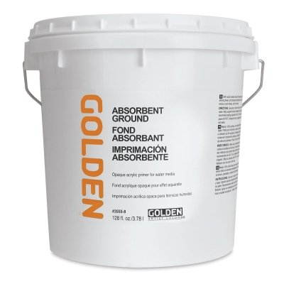 Absorbent Ground - Golden Acrylic Absorbant Ground White - 128 oz Jar