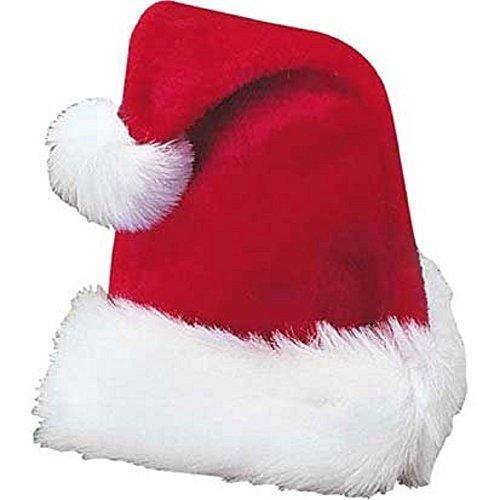 Red Plush Santa Hat (Adult Piano Dress Costumes)
