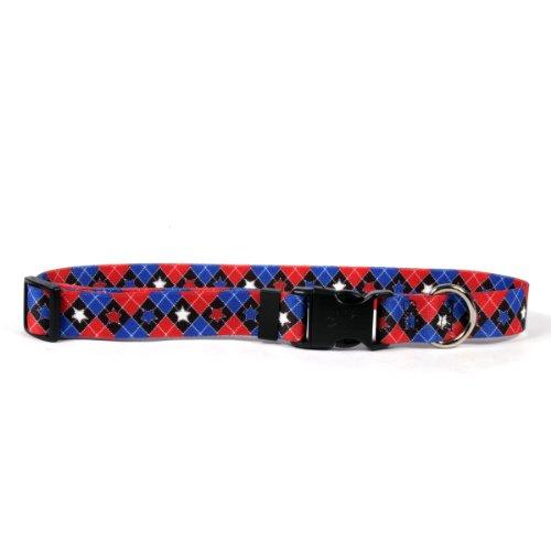 - Yellow Dog Design Easy-Snap Pet Collar, American Argyle, Large 18