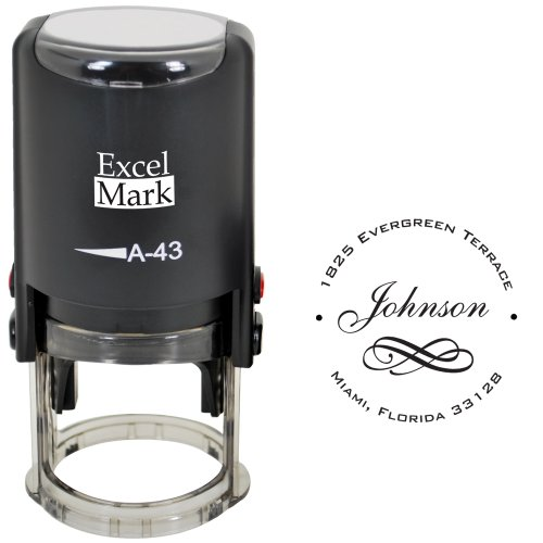 Custom Self Inking Address Stamp with Monogram - Style 234]()