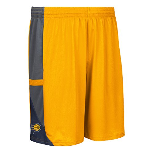 fan products of NBA Indiana Pacers Men's Tip-Off Mesh Shorts, X-Large, Gold